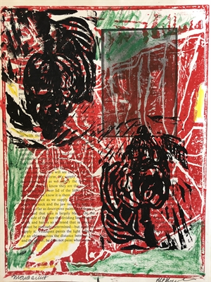 Red and Black Monoprint (SPECIAL PRICING), 2020