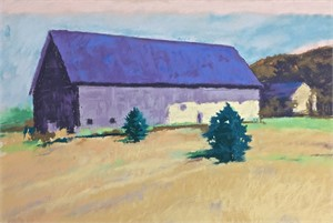 Purple Roofed Barn  by Mike Kelly