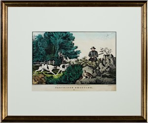 Partridge Shooting (damaged-tears in image), c. 1855