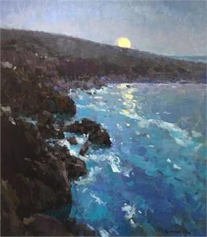 Coastal Moon Rising