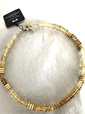 Necklace - Variegated Citrine & Gold Vermeil  #8678, 2020