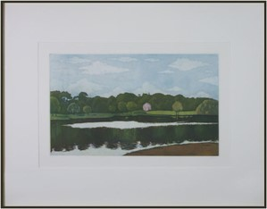 Untitled (pink house with lake), 1980