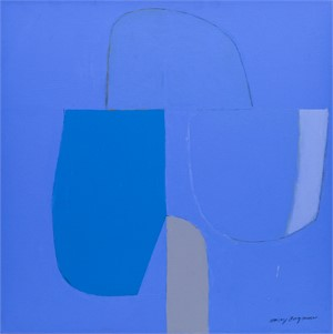 Composition on Blue