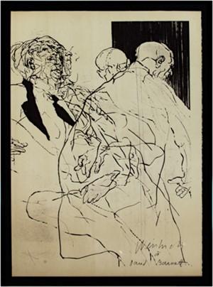 Agrandissement, signed for David Barnett, 1969