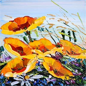 Floral Poppies Yellow - 178025