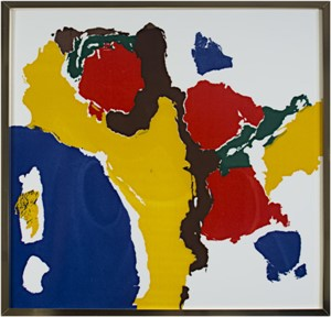 Untitled-Abstract (Blue, Yellow, Red, Brown & Green), c.1960's