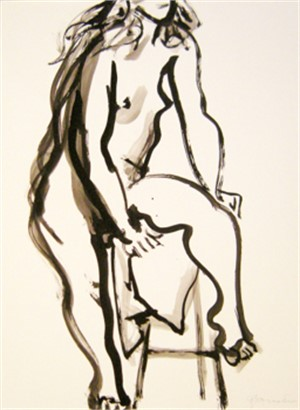 Female Nude with Raised Leg