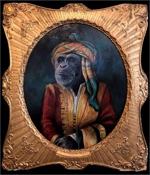 Portrait of Lord Chimpanzee in Albanian Dress, 2019