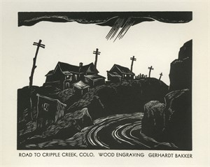 Road to Cripple Creek, Colo., 1936