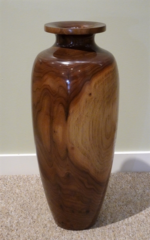 Large Walnut Vase #219 by Darrel Kellerman