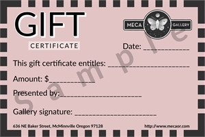 Gift Certificate, 2019