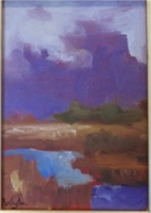 Violet Clouds Over Marsh