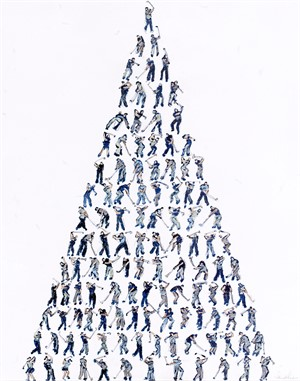 Small Golfers Pyramid, 2018