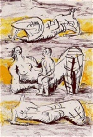 Reclining Figures & Reclining Mother & Child, (1/85), 1973