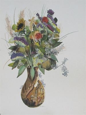 Copper Vase - Sunflower