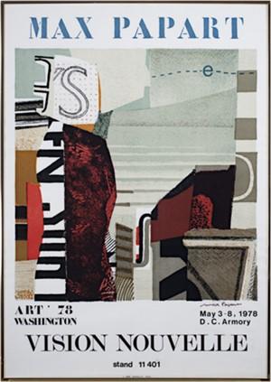 Max Papart Wash DC Art Fair Vision Nouvelle, 1978