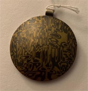 Pendent - Mokume Gane, Copper, Brass, Sterling Silver - ADC 104, 2019