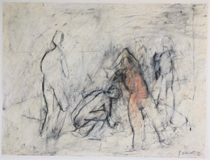 #13 Four figures in motion by Thaddeus Radell