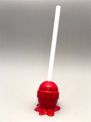 The Sweet Life, small, hot red Lollipop, 2019