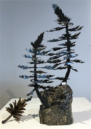 Two Pines on Rock 3381