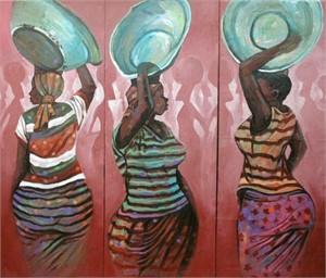 Kaya Yei (Head Porters) Triptych, 2012