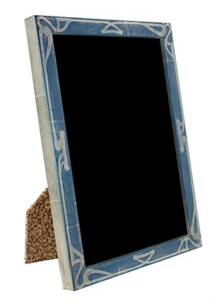 12K WHITE GOLD LEAF HANDMADE PHOTO FRAME 5x7 (Vertical -or- Horizontal), 2011
