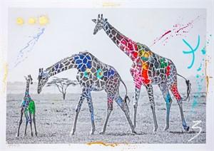 Giraffe Family (1/20), 2019