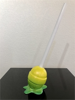 The Sweet Life, Small Yellow/Lime Green Ombré Lollipop, 2018