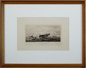 Plage de Villerville, c1860