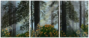 Santiam Sunrise Triptych, 2019