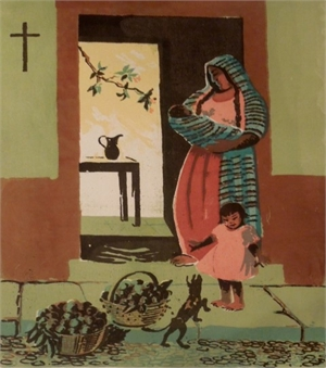 Mexican Doorway (color), 1951