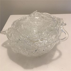 Clear Glass Nest Sculpture, 2019