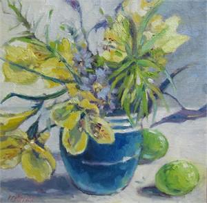 Still Life with Cobalt Vase