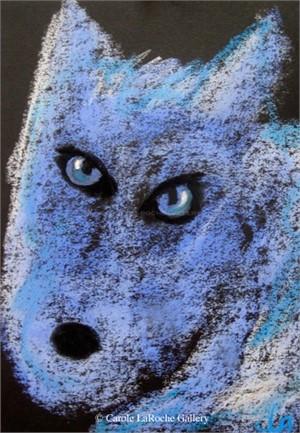 MINI POWDER BLUE WOLF