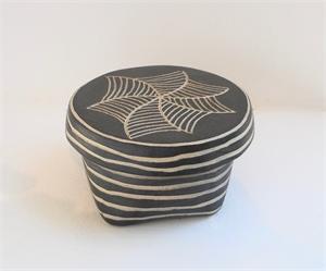 Medium Round Box 6 by Larry Halvorsen