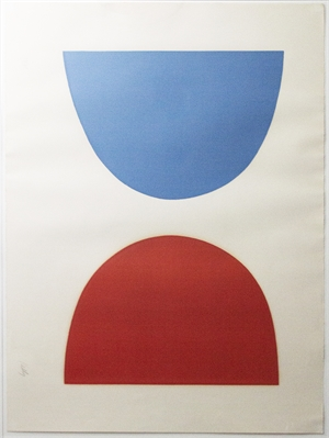 Red and Blue Curves, Ed: 58/75, c. 1964