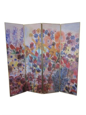 "Doublesided Screen ""Think Spring"" by D.B & other side ""Leaf Motif Handmade Paper Series"" by D.B. & S.B., 2005"