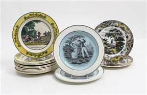 COLLECTION OF FIFTEEN CREIL PLATES , French, 19th century
