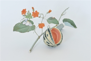 BROOKSHAW MELON WITH DOTTED BORDER BUTTERFLY, 2013