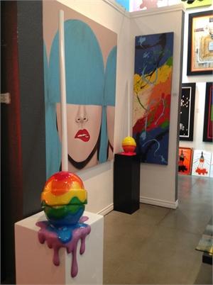 """The Sweet Life"" Medium Rainbow Corner drip Lollipop, 2019"