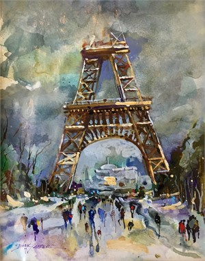 Stormy Winter Day in Paris