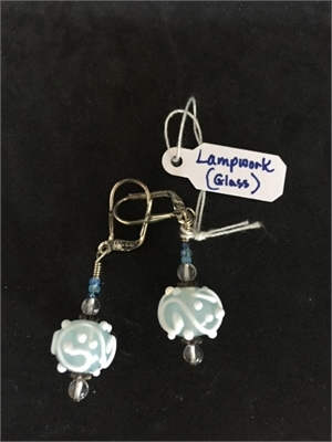 Earrings - Lampwork Beads & Stering  #129, 2020