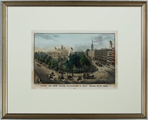 View of the Park, Fountain & City Hall New York, 1851