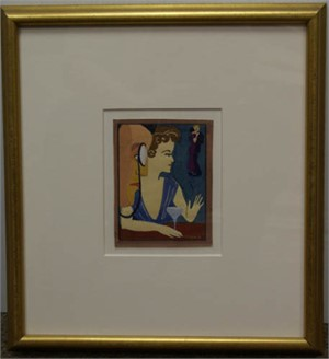 Man With Monacle, Woman with Martini at Dance #279 Sold as a Pair with #5145d, c.1944