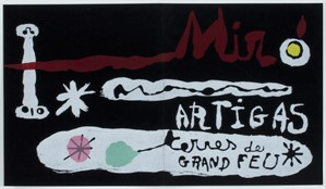 Miro/Artigas Sculpture in Ceramic, Pierre Matisse Gallery by Joan Miro