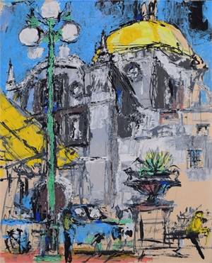 Untitled, View with Cathedral , c. 1960