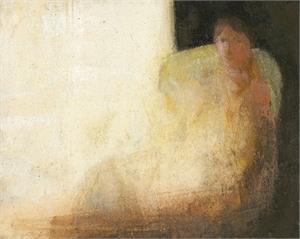 By the Window by David Brayne R.W.S.