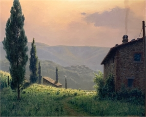 Tuscan Farmland in Evening Light, 2020