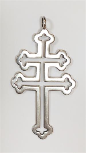Pendant - Silver Cross of Lorraine 9231