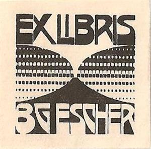 Bookplate B.G. Escher Beer, 1922